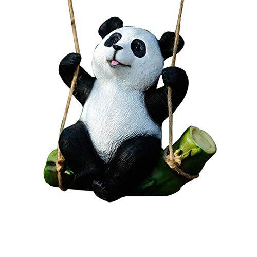 JIN GUI Lindo Oso Panda Animal, Juguete de Estatua de Panda, decoración de jardín con Resina Duradera Avanzada, Adecuado para el hogar y el jardín.