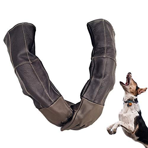 TARTIERY Guantes antimordeduras para gatos y perros, de piel suave, gruesos, resistentes a los arañazos, a las mordeduras
