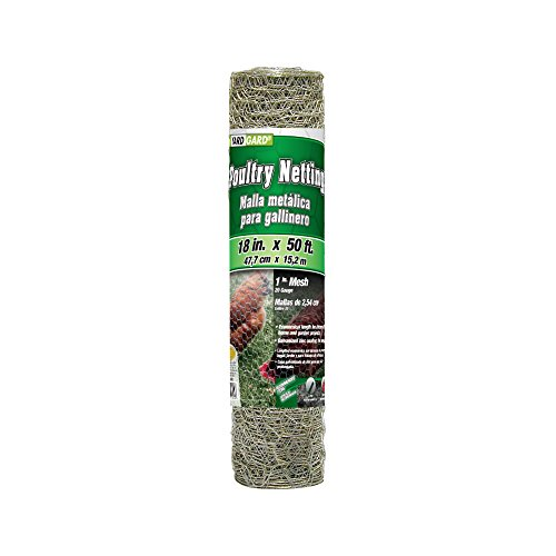 YARDGARD 308402B Poultry Netting Fence, 18 Inch x 50 Foot, Silver
