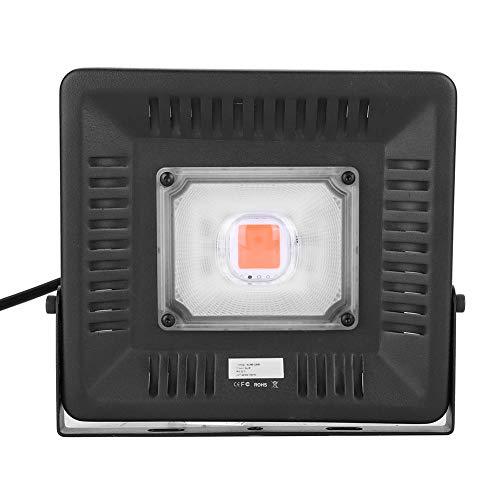 Lámpara LED para plantas, 50 W, espectro total, luz solar simulada, con ganchos, protección IP67, lámpara para plantas