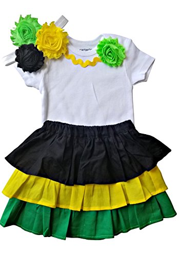 Perfect Pairz Jamaica Dress Clothes for Baby Clothing for The Caribbean(18M Short Sleeve)