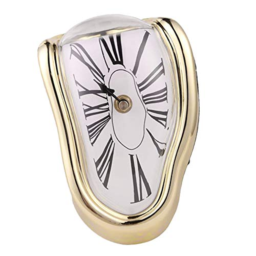 Baoblaze Reloj Blando Decoración Casera - Oro