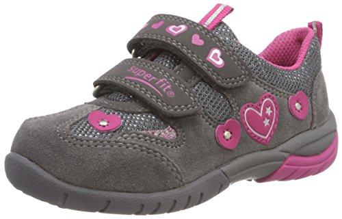Superfit Mädchen SPORT3 Sneaker, Grau (Grau/Rosa 20), 35 EU