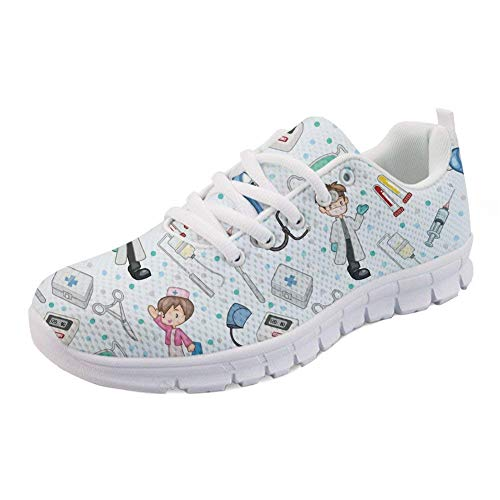 Nopersonality Funny Cartoon Nurse Basket Femme Homme Chaussure de Sport Running Fitness Mode Sneakers Gym Jogging Shoes Taille 41
