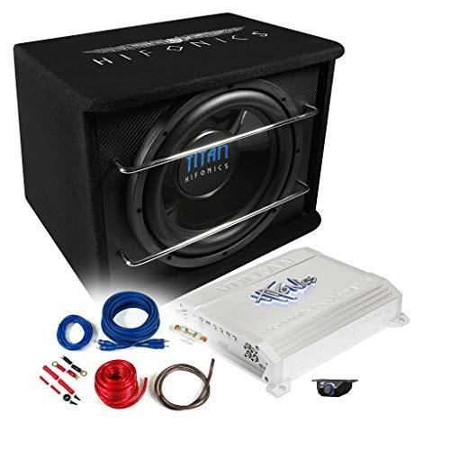 HIFONICS Basspaket 2-Kanal Endstufe/Verstärker+30cm Subwoofer+Kabel-Set 800W / TS-300R + VXI-4002 + REN10KIT