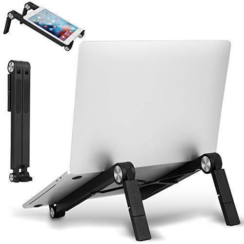 ZOVCAL Supporto per PC Portatile Angolazione Regolabile Pieghevole Supporto da 11-17 Pollici per Computer Portatile Notebook MacBook PRO MacBook Air iPad Laptop Stand-Nero
