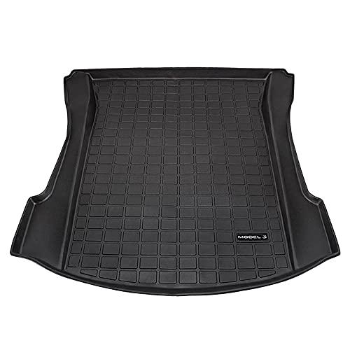 La alfombrilla para maletero de coche YZZQL es adecuada para Tesla Model 3 alfombrilla protectora impermeable forro de carga bandeja de equipaje alfombrilla de suelo accesorios 2017-2021