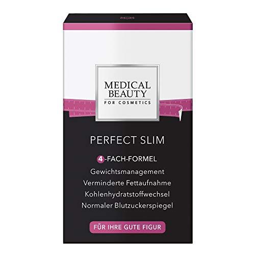 MEDICAL BEAUTY® PERFECT SLIM | Mit 4-fach-Abnehmformel! Verminderte Fettaufnahme | Stoffwechselunterstützung | Normaler Blutzuckerspiegel | Für Ihre gute Figur | Vegan | Inhalt: 42 Kapseln