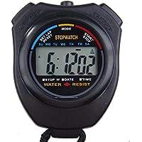 Z-Y Cronometros Temporizador Digital ABS Impermeabilizan Profesional cronógrafo Digital de Mano portátil Deportes Cronómetro Temporizador Cronómetro con La Cadena