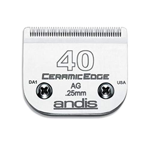 Andis CeramicEdge Carbon-Infused Steel Pet Clipper Blade, Size-40, 1/100-Inch Cut Length (64265)
