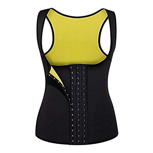 Camiseta sin Mangas para Mujer Sudadera Fitness Slimming Sauna Sweat Vest Camiseta térmica con Cremallera (Size : S)