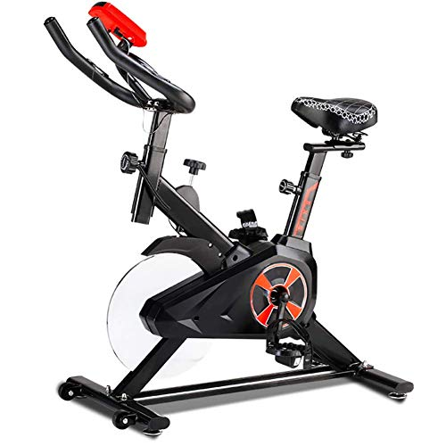 DKDYBR Bicicleta Ejercicio Casa Giratoria, Engrosamiento de la Viga Cubierta Protectora Completamente Cerrada Silenciar en Interiores, Equipo Gimnasio Bicicleta,Negro