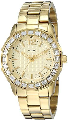 Guess Damen-Armbanduhr XS Girly B Analog Quarz Edelstahl beschichtet W0018L2