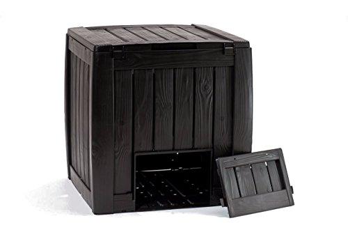 Keter Kunststoff Komposter 320l Farbe, schwarz, Maße: 65x65x75cm, Polypropylen