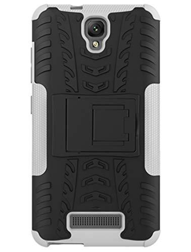 HeNiYa Funda ZTE Blade L5/L5 Plus- Doble Capa Armadura Resistente Shockproof Bumper Cubierta Trasera Dura para ZTE Blade L5/L5 Plus(Blanco)