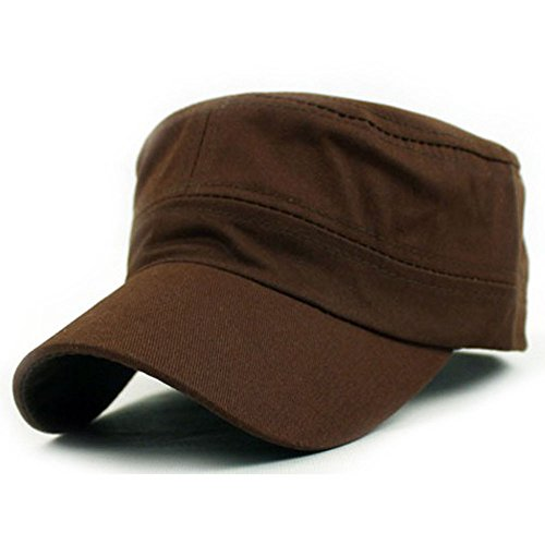Ularma Vintage Estilo Casquillo del algodón, Sombrero sólido Ajustable para los Deportes y al Aire Libre