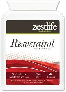 Zestlife Resveratrol - 60 cápsulas | Puede ayudar a reducir el colesterol malo Protege las células
