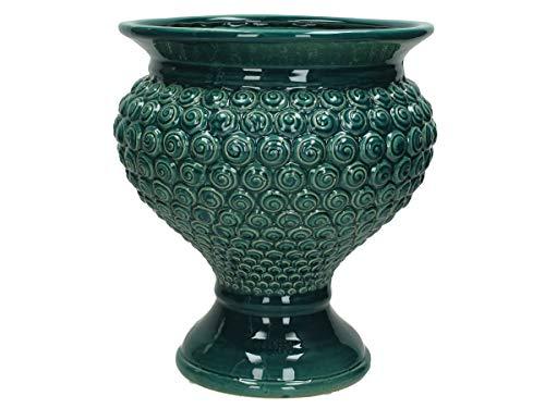 Bloempot fijn aardewerk - petrol