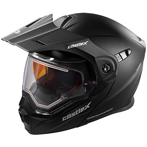 Castle X EXO-CX950 Electric Modular Snowmobile Helmet - Solid Matte Black - 2XL