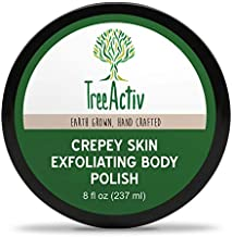 TreeActiv Crepey Skin Exfoliating Body Polish 8 fl oz, Buffs Off Dead Skin Cells & Other Impurities, Restores Firm & Glowing Skin, Scrubs For Women & Men, Made in USA, Vegan