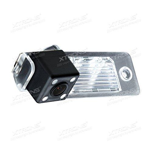 XTRONS Rückfahrkamera 170 ° Weit Betrachtungswinkel Einparkshilfe Wasserdicht Nachtsensor LED Custom Fit für Volkswagen Tiguan/Touareg / Transporter/Old Shape Passat/Polo