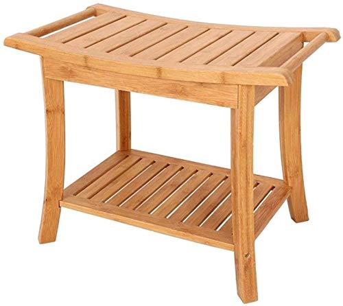 WYJW Douchestoel Thuis Badkruk houten badkamer antislip bank oude man bad stoel bad stoel gehandicapte leuning antislip douchestoel/zwangere vrouw bad kruk sterke draagvermogen