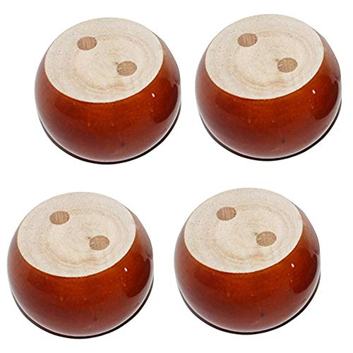 Furniture Legs 4 Piezas Patas Madera para Muebles 5cm De Altura Pata De SofáRedondas Patas De Gabinete Mesa Cama De Bricolaje Rojo Negro Blanca