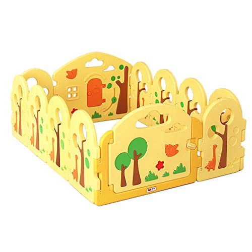 Sale!! Game Fence Security Game Fence Crawl Learning Walk Fence Child Safety Fence (Color: Yellow Fe...