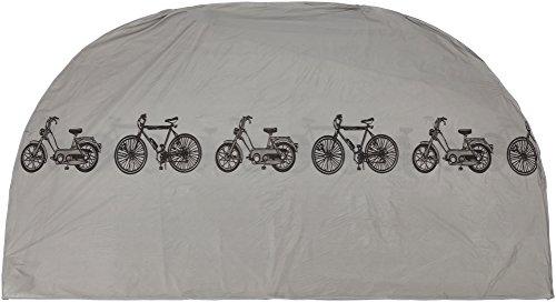 # 24 * scooter bromfiets Fietsschuur Fiets Bescherming Case Cover Cover dekzeil in zilver Afmetingen 110 x 185 cm