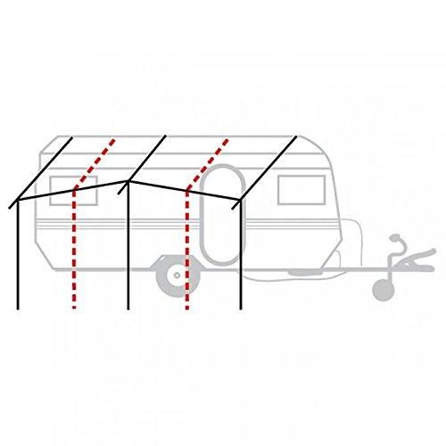 BERGER Basisgerüst Stahl Ausführung Ø 28 mm Vorzeltgestänge mit Vordachstützen vorne, 17,5 kg, Länge bis 280 cm