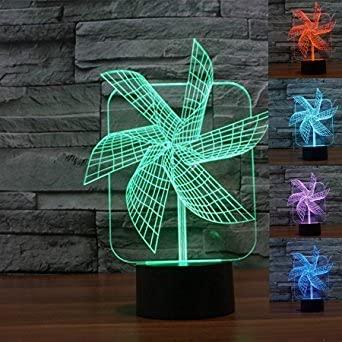 3D Agraf Luz Led Art Deco Cambio De Color De Luz Luz Led Decoración Del Hogar Niños Decoración Del Hogar Mejor Regalo Luz De Control Táctil 7 Cambio De Color Lámpara De Mesa Usb