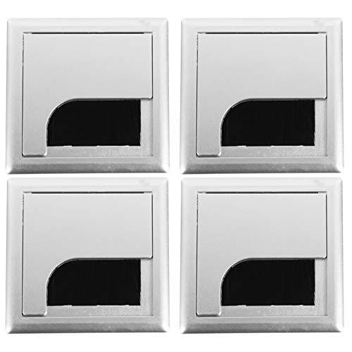 iplusmile 4 Stück Bürotülle Quadratische Kabellochabdeckung Schreibtisch Tülle Kabelsteckdoseneinsatz für Das Home Office
