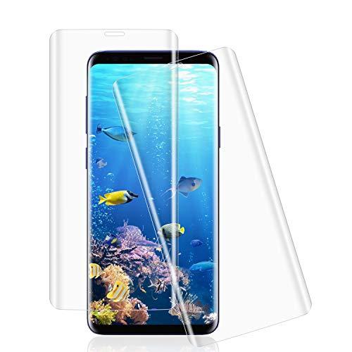 Whew Schutzfolie kompatibel Samsung Galaxy S9, [9H Härte] [3D Abgerundete] [Vollständige Abdeckung] Panzerglas [Einfache Installation] [Blasenfrei ] HD Displayschutzfolie Gehärtetem Glas