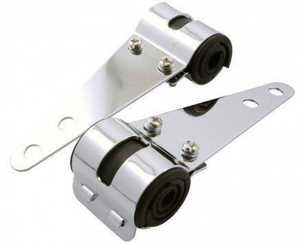Lampenhalter Motorrad universal Gabel, chrom, 30-38 mm, Paar