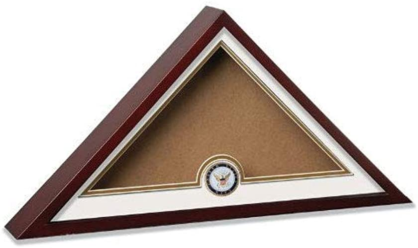 TANGGOOD vitrine du Drapeau américain de l'inhumation avec EnterreHommest de la Marine américaine avec médaillon de la Marine Officielle a
