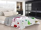 Italian Bed Linen Ki-Osa Trapuntino Estivo con Stampa in Digital a Copertura Totale, 100% Microfibra, Kio615 (Multicolore), Matrimoniale, 260 x 270 cm