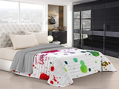 trapunta matrimoniale 260x260 Italian Bed Linen Ki-Osa Trapuntino Estivo con Stampa in Digital a Copertura Totale