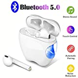Bluetooth Wireless Earbuds,True Wireless Bluetooth Headphones with Microphone Auto-Pairing Bluetooth Earbuds with Charging Case HiFi Stereo Headset Noise Cancelling Sports Earphones for Running