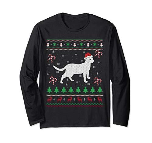 Bengal Cat Lover Xmas Gift Ugly Bengal Cat Christmas Long Sleeve T-Shirt