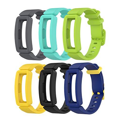 Tencloud Ersatz-Armbänder kompatibel mit Fitbit Ace 2, weiches Silikon, flexibles Armband für Ace 2 Activity Tracker für 11,9 cm - 18 cm Größe