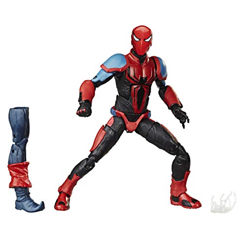 Hasbro Marvel Spider-Man Legends Series 15-cm Collectible Action Figure Spider-Armour MK III Toy, with Build-A-Figure Piece and Accessory