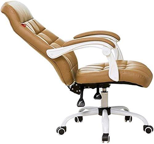 FACAIA Silla de Juego Silla de Oficina reclinable ejecutiva Extra Acolchada Silla para computadora 160 & deg;Sillón de Rodillas de diseño a Cuadros de sillón (Color: Marrón)