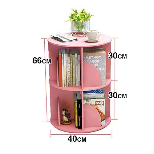 Planken DUO Rekken Boekenplank, 360 ° roterende Boekenkast Eenvoudige Boek Student Landing Rack Organizer Kast Rack 3 kleuren Rekken