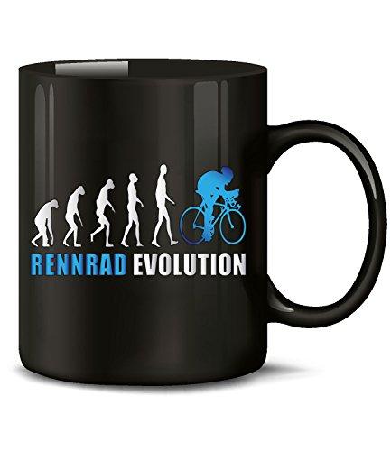 Golebros Rennrad Evolution Radsport 5900 Geburtstag Geschenk Fun Tasse Becher Kaffeetasse Kaffeebecher Schwarz-Blau