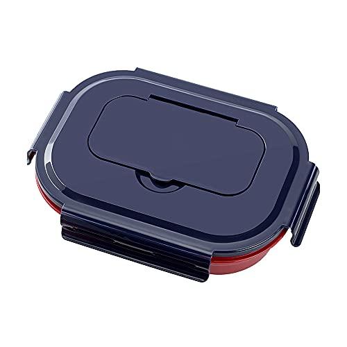 31 piezas de juego de pila, para almacenamiento de alimentos de doble capa Bento caja de almuerzo de doble capa de doble capa de la cena de la caja de alimentos suministros de alimentación desmontable