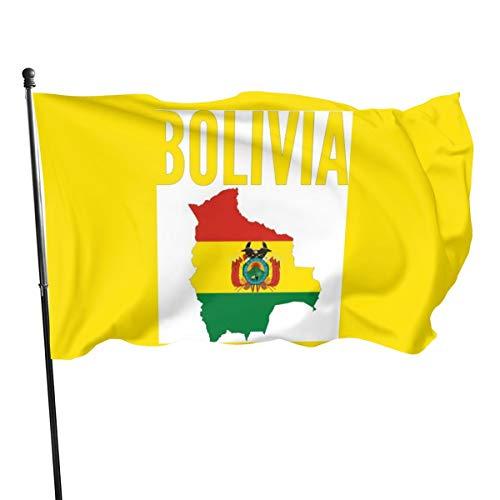 Pancarta de bandera de Bolivia con mapa de la nación