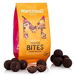 Rich dark chocolate 70% cocoa truffle bites with roasted peanuts Vegan and gluten-free: We're pleased to say all our chocolate is gluten-free and we also have a wide range of vegetarian and organic chocolates, certified by the Soil Association Sustai...