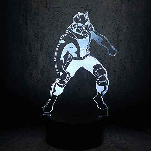 Anime Karaktermooie vlinder 3D ijshockey lamp LED nachtlampje met afstandsbediening, 7 kleuren selecteerbaar dimbare touch schakelaar nachtlamp verjaardag cadeau