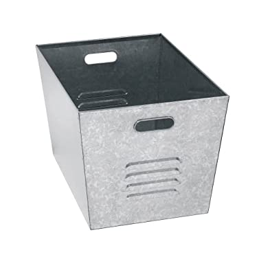 Muscle Rack LB111310 Steel Galvanized Utility Bins 12  Width x 11  Height x 17  Depth (Pack of 6)