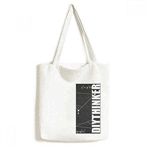 DIYthinker Grau Winkel Mathematische Formel Calculus-Tasche Einkaufstasche Kunst Waschbar 33cm x 40 cm (13 Zoll x 16 Zoll) Mehrfarbig